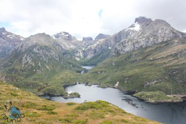 Vista da enseada da montanha