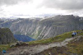 Landscape do caminho para o Trolltunga.