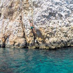 Um refúgio de escalada na ilha de Hvar