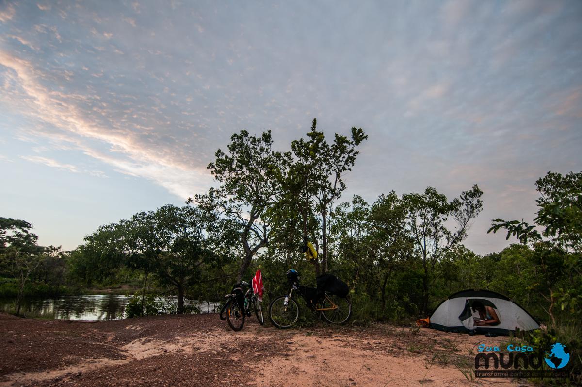 area camping cachoeira do soninho no Jalapão